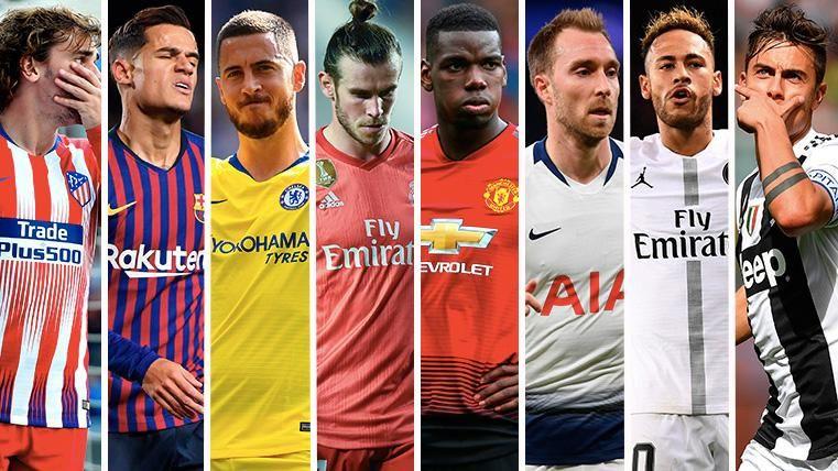 Griezmann, Coutinho, Hazard, Bale, Pogba, Eriksen, Neymar y Dybala