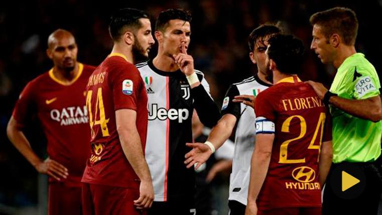 Cristiano Ronaldo, en una tángana con jugadores de la Roma