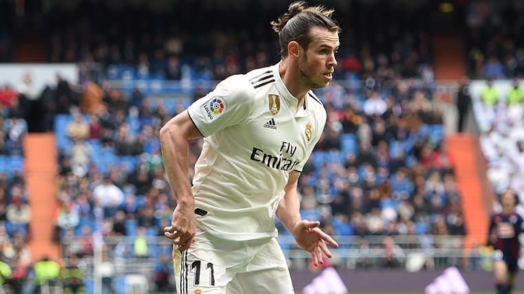 Bale en un partido con el Real Madrid esta campaña