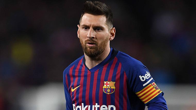 Leo Messi, durante un partido del FC Barcelona esta temporada