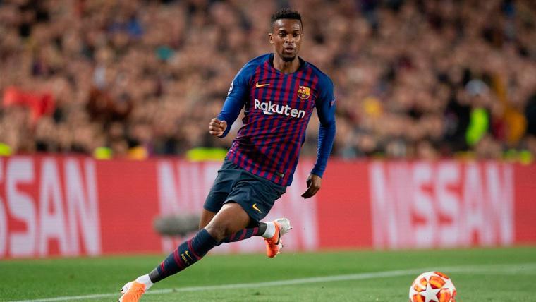 Nélson Semedo en un partido con el FC Barcelona