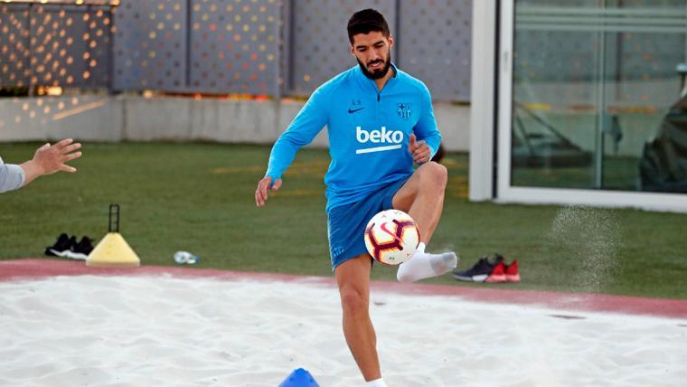 Luis Suárez, con buenas sensaciones tras su operación de rodilla