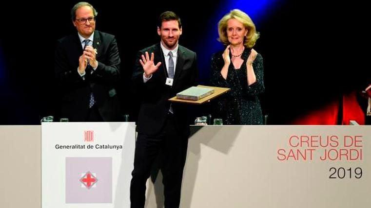 La Generalitat otorga a Lionel Messi la Creu de Sant Jordi