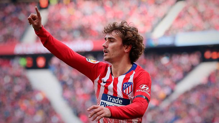 Antoine Griezmann celebra un gol con el Atlético