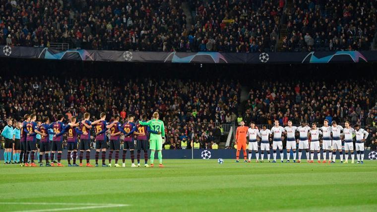 La UEFA multa finalmente al Barça por el duelo contra el Tottenham en Champions