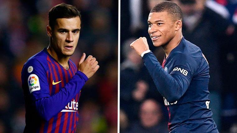 Coutinho-Mbappé, un trueque tan deseado como utópico para que el galo acabe en el Barça