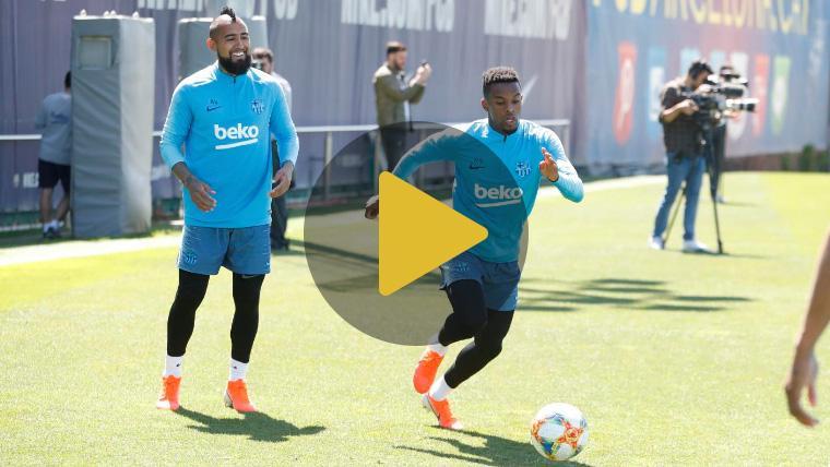 Semedo regresa a los entrenamientos del Barça y Coutinho, optimista para la Copa