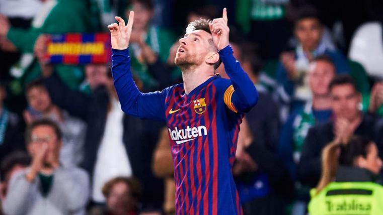 Leo Messi quiere seguir su idilio con el Benito Villamarín en la final de Copa