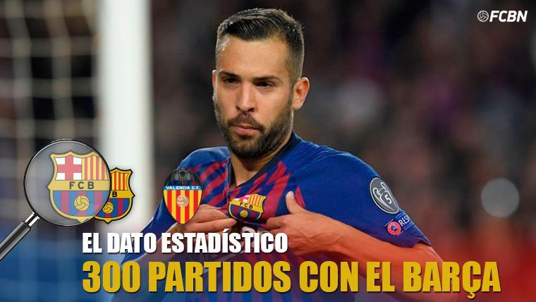 Jordi Alba cumple en la final de la Copa del Rey su partido 300 con el FC Barcelona
