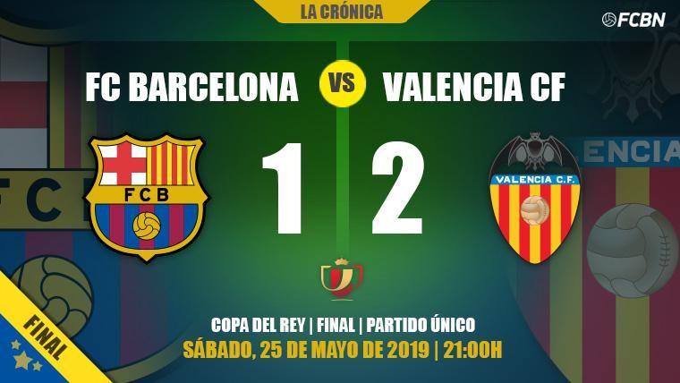 Un Valencia efectivo deja sin Copa del Rey a un Barça que se quedó a medias (1-2)