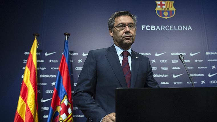 Josep Maria Bartomeu, durante una comparecencia con el FC Barcelona