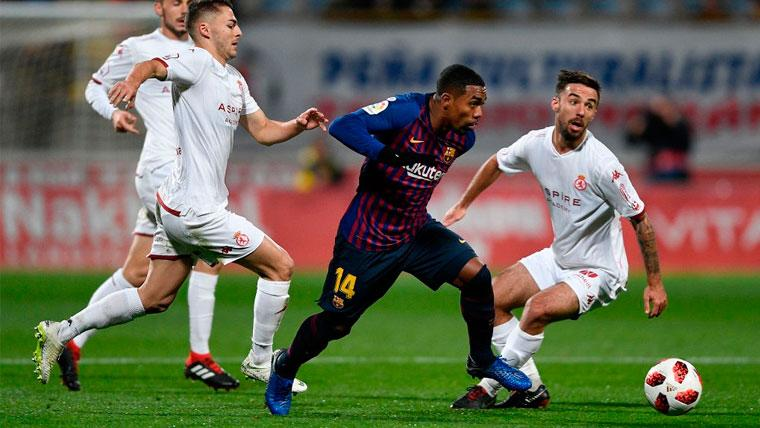 Si Malcom se marcha, el Barça podría ascender a un delantero del filial