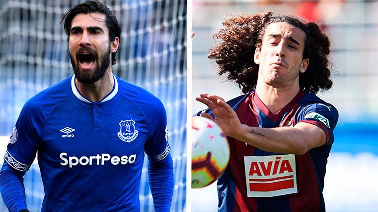 André Gomes y Cucurella, en sendos partidos con Everton y Eibar