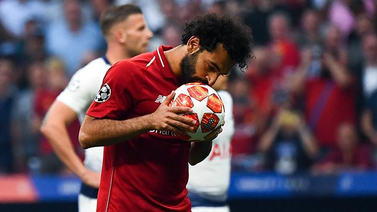 Salah marcó al Tottenham el penalti más rápido en la historia de la Champions