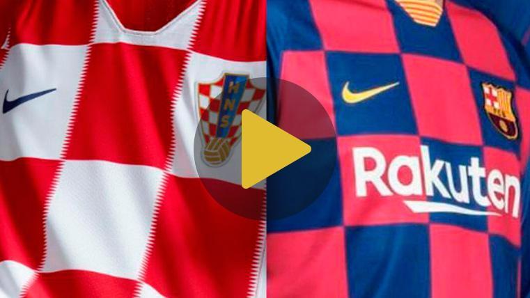 La Federación de Croacia bromea con la nueva camiseta del Barça y menciona a Rakitic