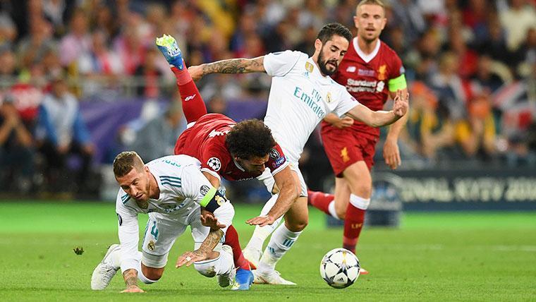 Salah reconoce que usó una foto de Ramos para motivarse para la final de la Champions