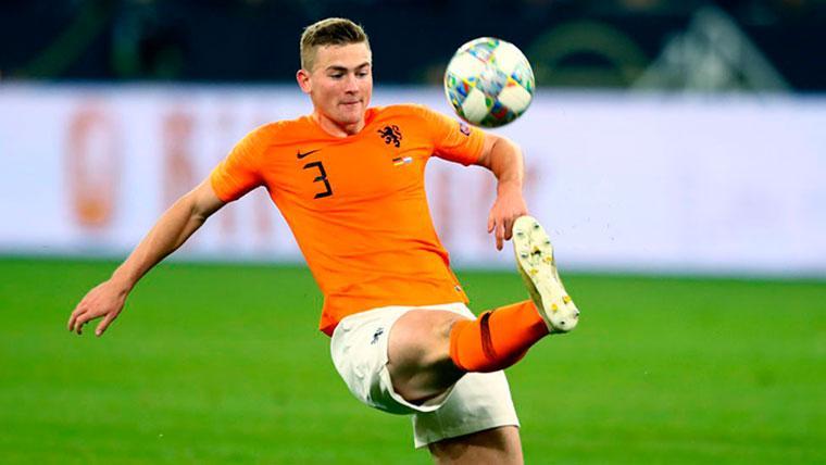 Matthijs de Ligt, en un partido con Holanda