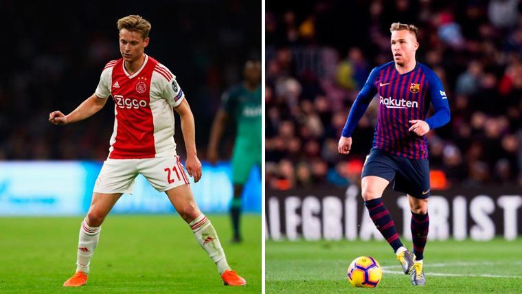 Arthur y De Jong abren la puerta a una evolución en la formación del Barça