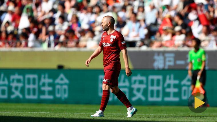 Iniesta reaparece con el Kobe con golazo ganador ante el líder de la J-League