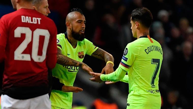 """Coutinho, un enamorado de Arturo Vidal: """"Claro que tiene 'ADN Barça'"""""""