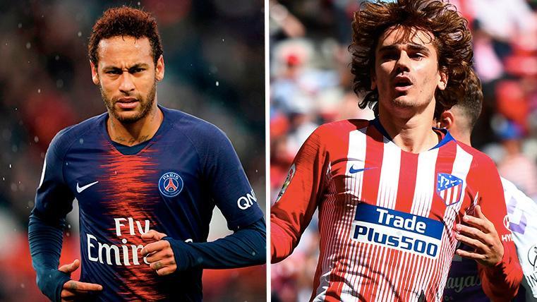 Neymar Jr, mismos números que Antoine Griezmann con casi 50 partidos menos