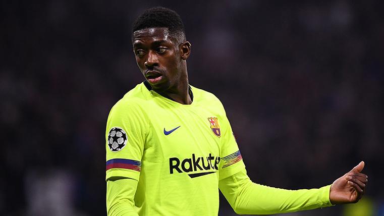 Ousmane Dembélé, durante un partido con el FC Barcelona esta última temporada