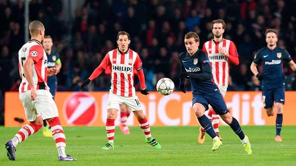 Al Atlético se le congelaron las ideas ante el PSV (0-0)