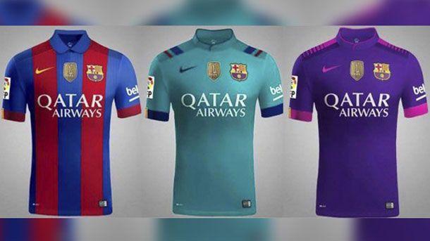 8502418fa Las tres camisetas del Barça para la próxima temporada