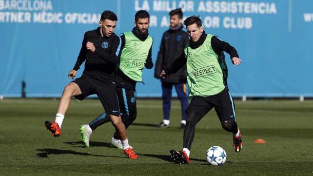 Vuelta a los entrenos del Barça con cinco jugadores del filial