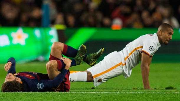 Sergi Roberto es duda ante la Real Sociedad por un esguince