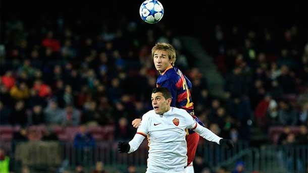 Samper debutó en esta Champions 15-16 con el Barça