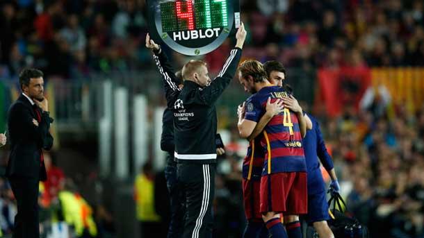 Rakitic se lesionó y es duda para el Clásico ante el Madrid