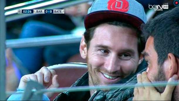 Messi y Arda, de cachondeo en el FC Barcelona-BATE