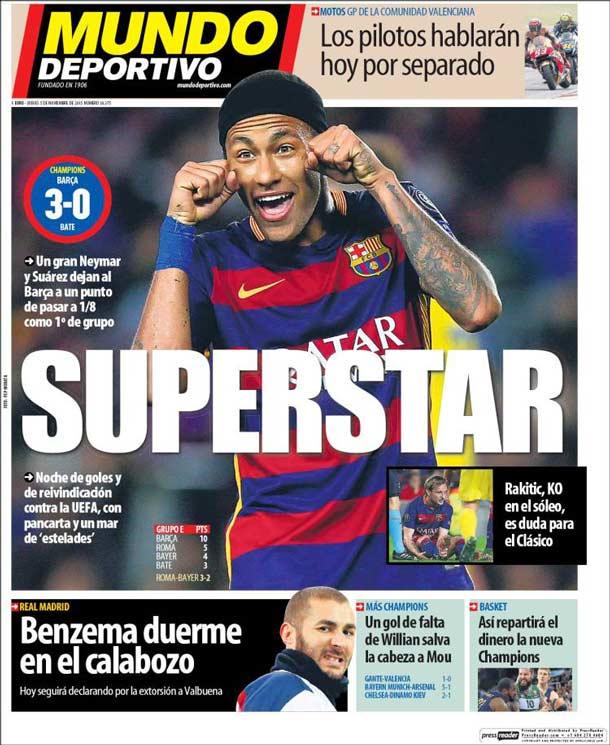 Portada Mundo Deportivo: SUPERSTAR
