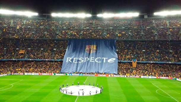 El Camp Nou pitó masivamente el himno de la Champions