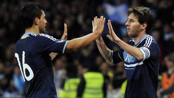 Argentina podr�a presionar a Messi tras la lesi�n de Ag�ero