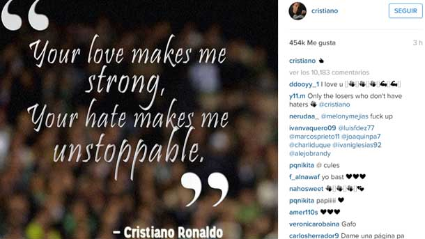 Cristiano Ronaldo Believes Imparable In Front Of His