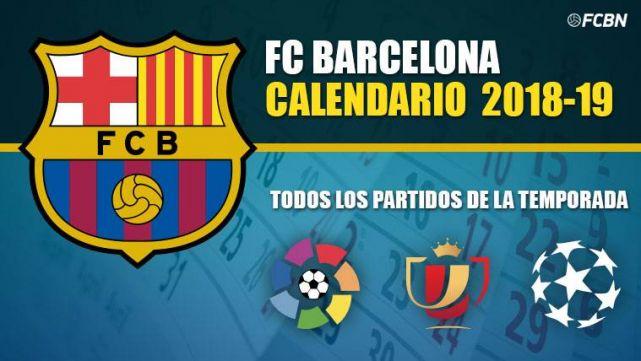 Calendario 2019 Ucl.Calendar Fc Barcelona 2019 2020 All The Parties Of The Season