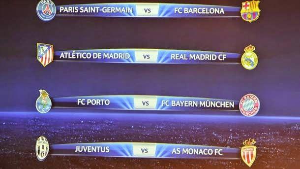 Resultados de los cuartos de Champions 2014-15