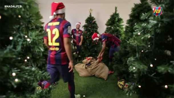 Felicitaciones De Navidad Del Fc Barcelona.Neymar Rafinha Y Alba Los Reyes Magos Del Barca Fc