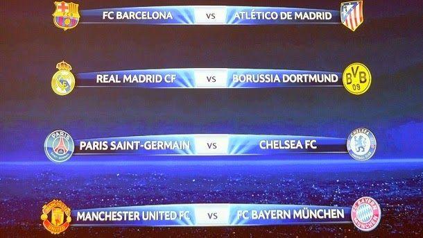 Emparejamientos de cuartos de final de la Champions - FC Barcelona ...