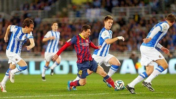 Resultado de imagen de Real sociedad 1-1 barça copa 2013-14