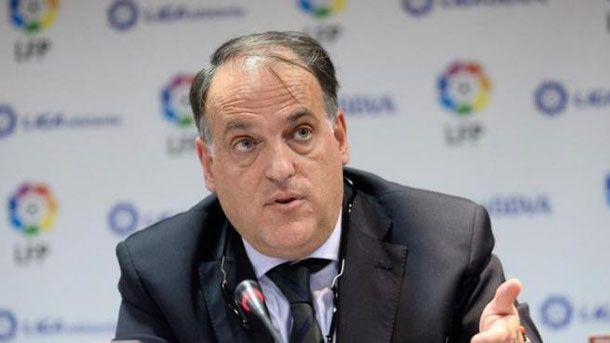 """Tebas: """"Si sancionan a Barça, Madrid y Atlético algo está mal"""""""