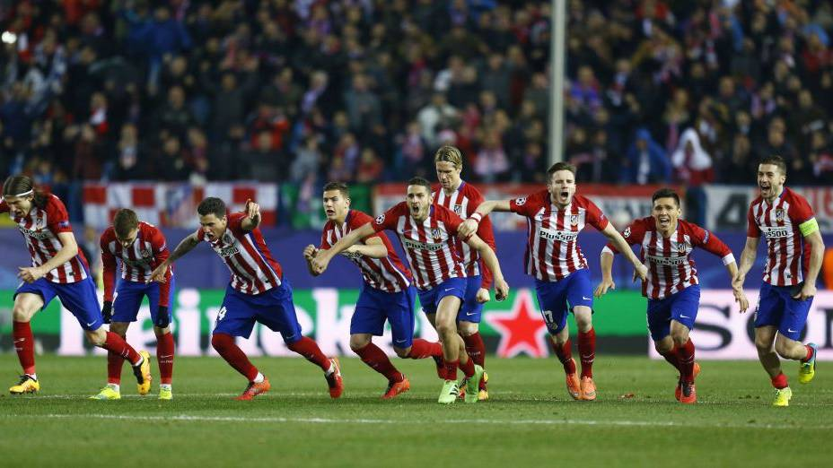 El Atlético de Madrid sufrió los penaltis para pasar a cuartos junto al City