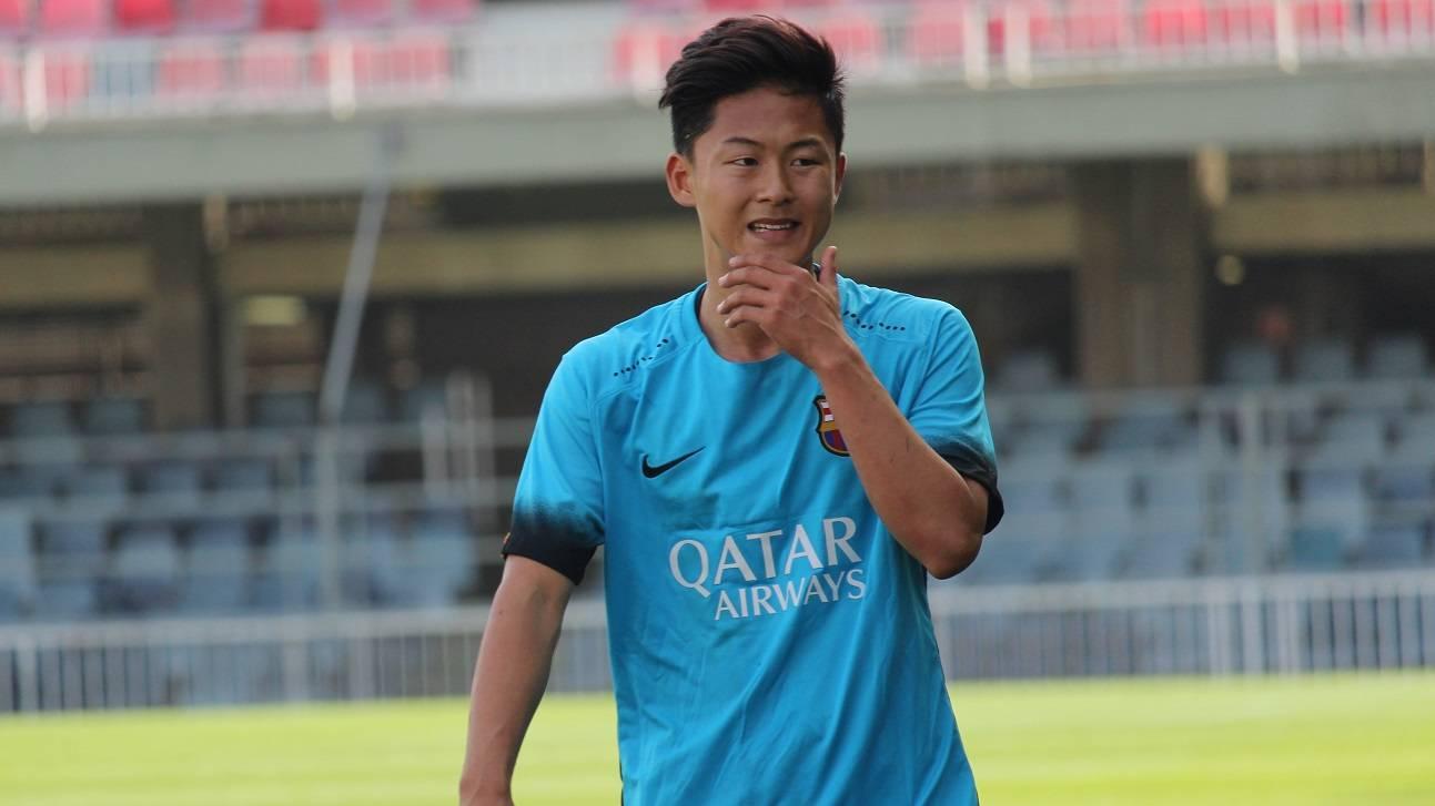 Seung Woo Lee, la sensación del Barça B en pretemporada