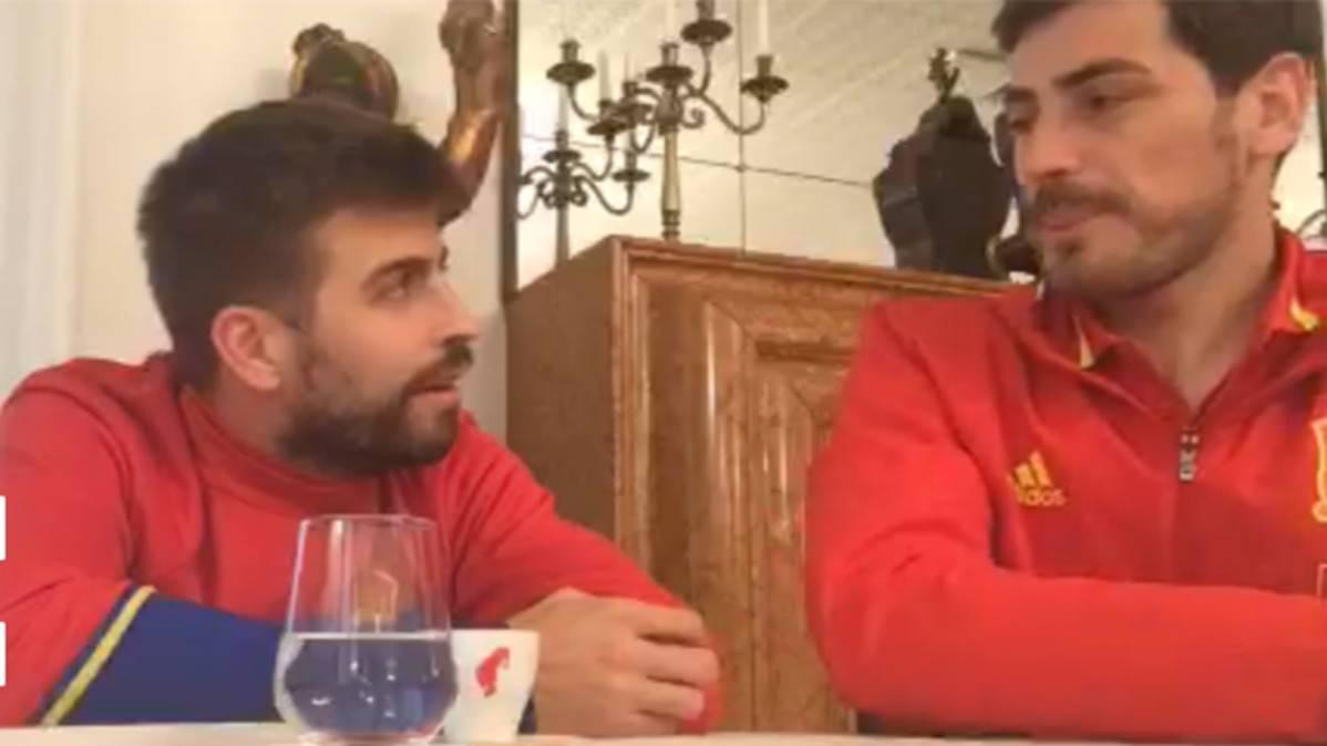 """Casillas defiende a Piqué: """"Piensa las cosas, a algunos no les gustan"""""""