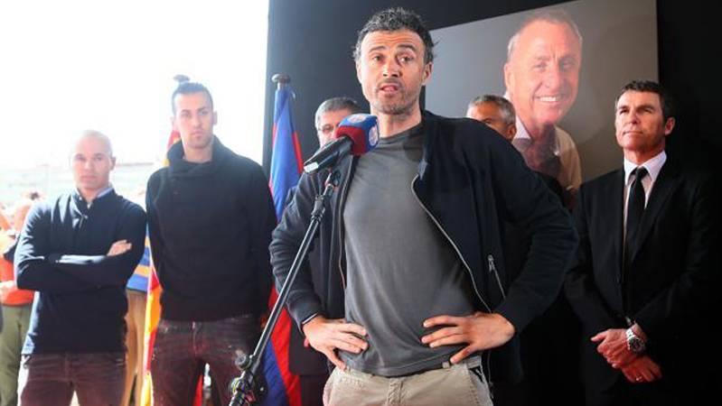 """Luis Enrique: """"El legado de Johan en el Bar�a continuar�"""""""