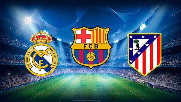 Image result for barcelona atletico real madrid